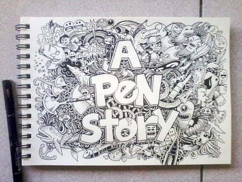 01-A-Pen-Story-Filippino-Artist-and-Illustrator-Kerby-Rosanes-Pen-Doodles-www-designstack-co