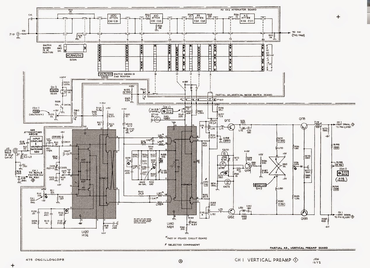 Musings of a WAHZ: Tektronix 475 Channel Selection and