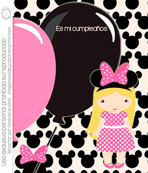 Invitaciones de minnie mouse en rosa