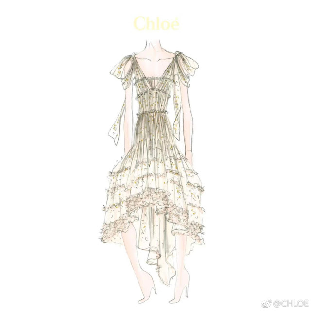 Tang Yan Wedding Dress Sketch
