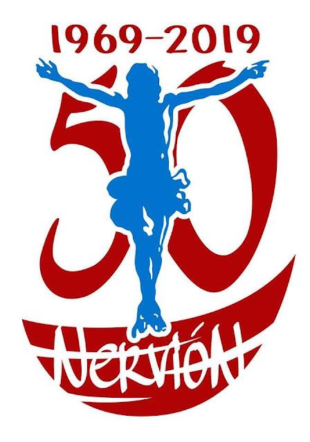 Logotipo del 50 aniversario de la hermandad de la Sed de Nervión.... 1969-2019