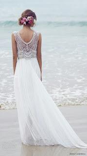 sahil düğünü gelinliği