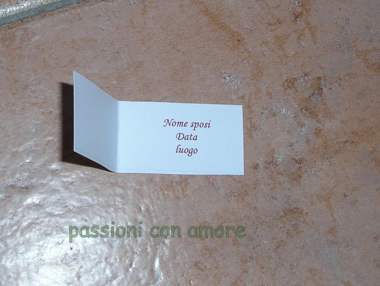 Passioni Con Amore Bigliettini Per Confetti