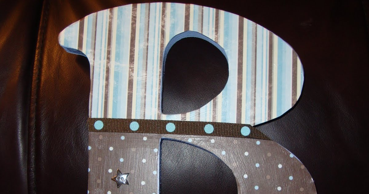 Lanie J. And Co.: Decoupaged Wooden Letters