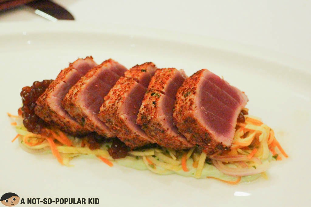 Seared Yellow Fin Tuna of Cru Steakhouse