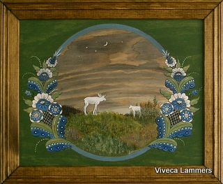 Dalmålning av Viveca Lammers