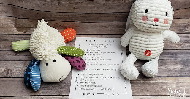 Help your students pray and connect home and school with Prayer Buddies. The free printables give kids ideas for how to pray to God while Prayer Buddy is visiting them at home. #catholic #prayer #catholickids