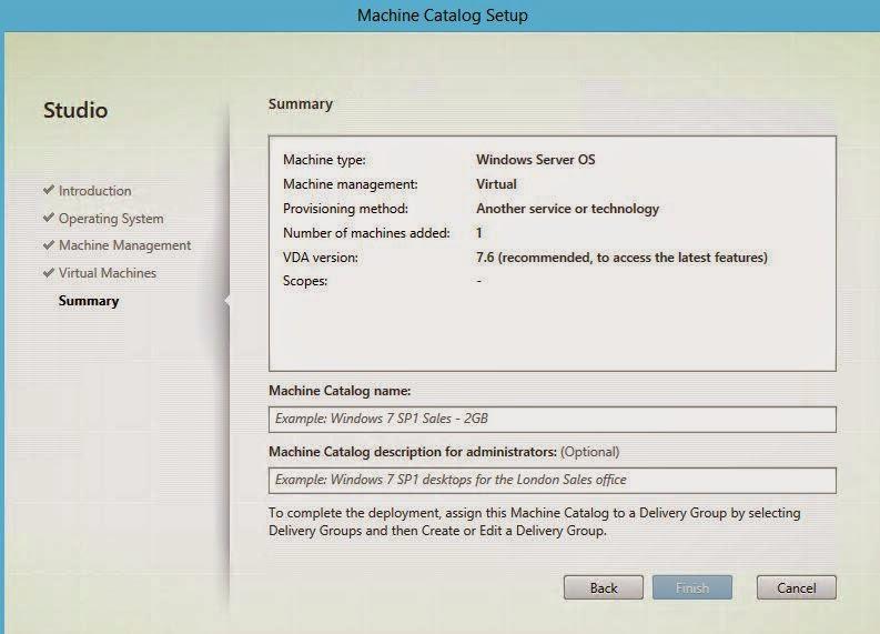Citrix XenApp 7 6 : Part 5 Creating Machine Catalogs | IT