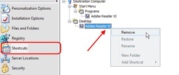 Adobe Customization Wizard XI - Shortcuts