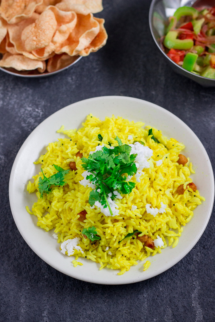 how to make chitranna, lemon rice recipe at One Teaspoon Of Life