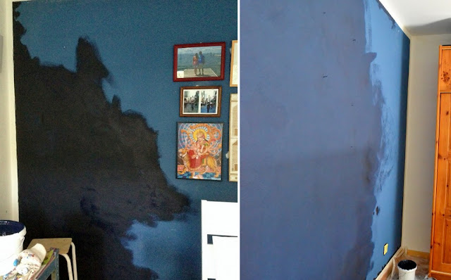 Teodeco the blue wall die blaue wand - Dunkelblaue wand ...