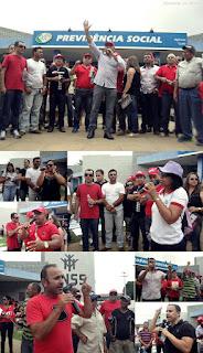 Em Cuité 3.000 manifestantes dizem não à reforma da previdência e vaiam os deputados que apoiam Temer
