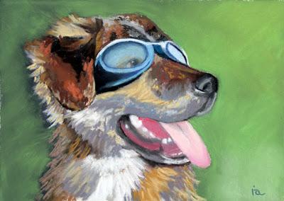 dog portrait commission painting
