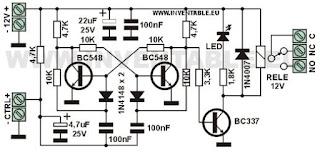 """Circuit complet du multivibrateur bistable """"T"""
