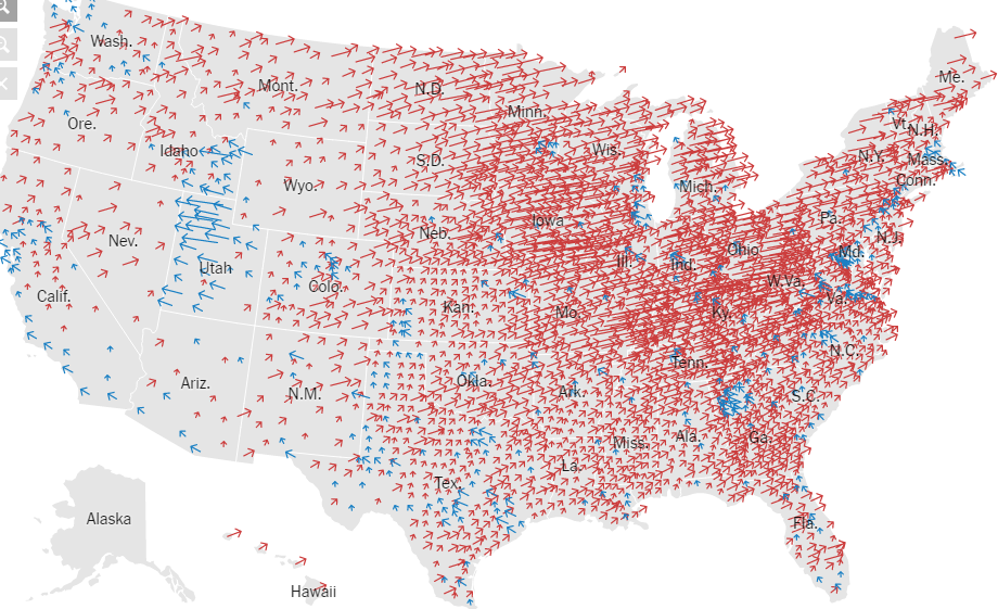 Common Cents US Election Election Map Results By County - Us political map 2016