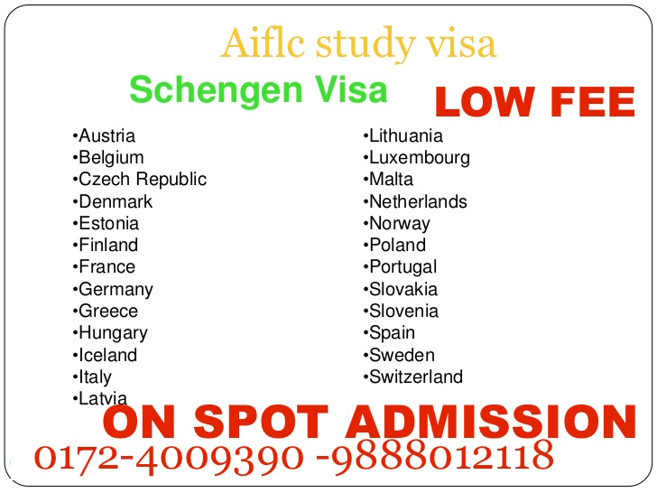 Study visa for Europe ( with or  without  IELTS)