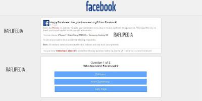 Script Phising Facebook Quiz Gift