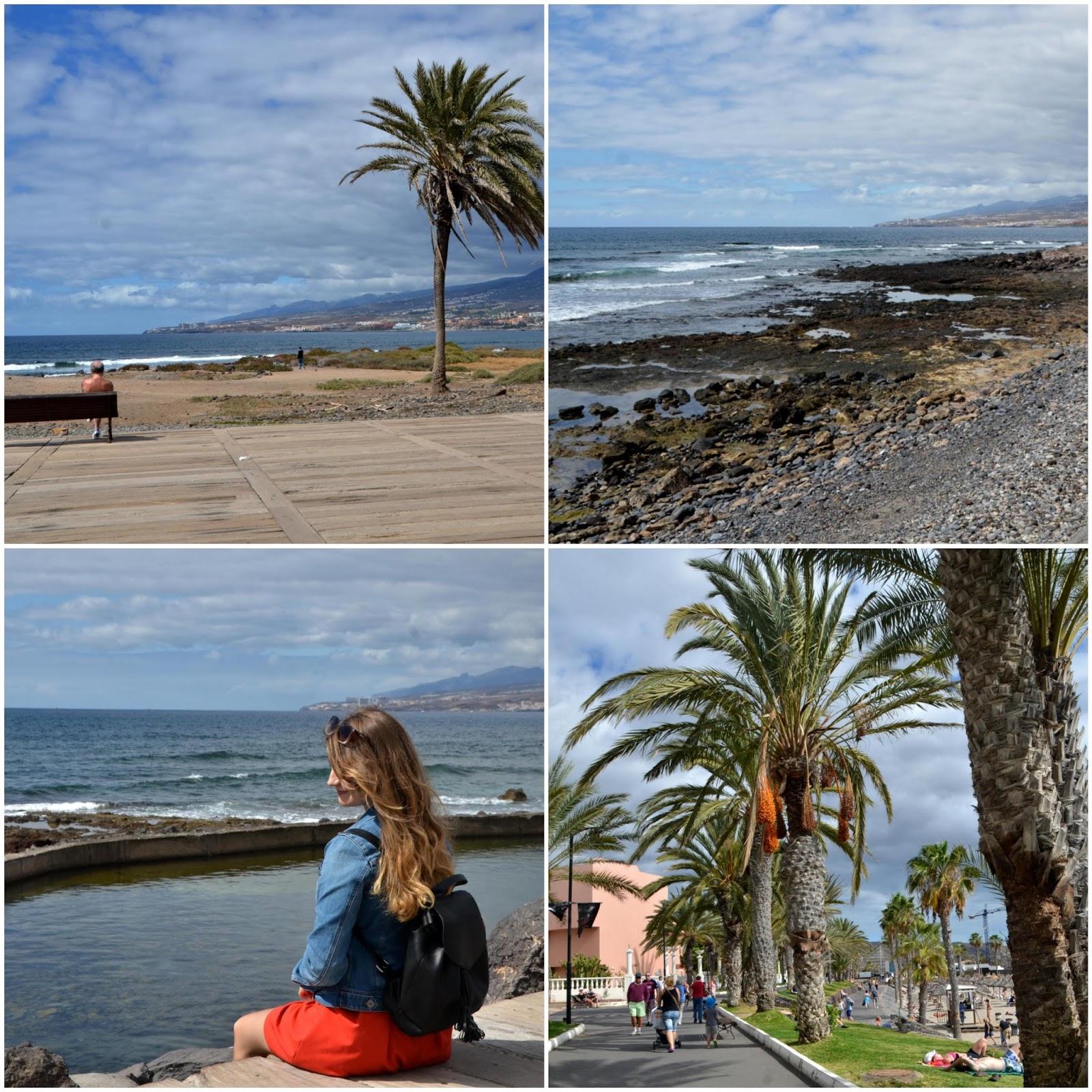 teneryfa plaża palmy widok