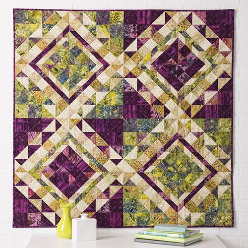 "Qube 6"" Escher Quilt free Pattern"