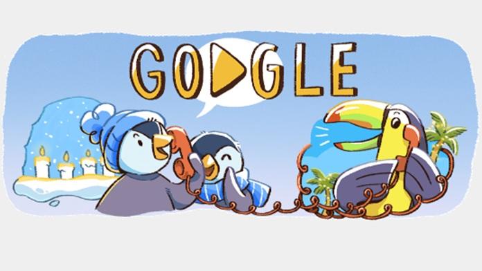 Pinguini e pappagalli nei Doodle natalizi di Google