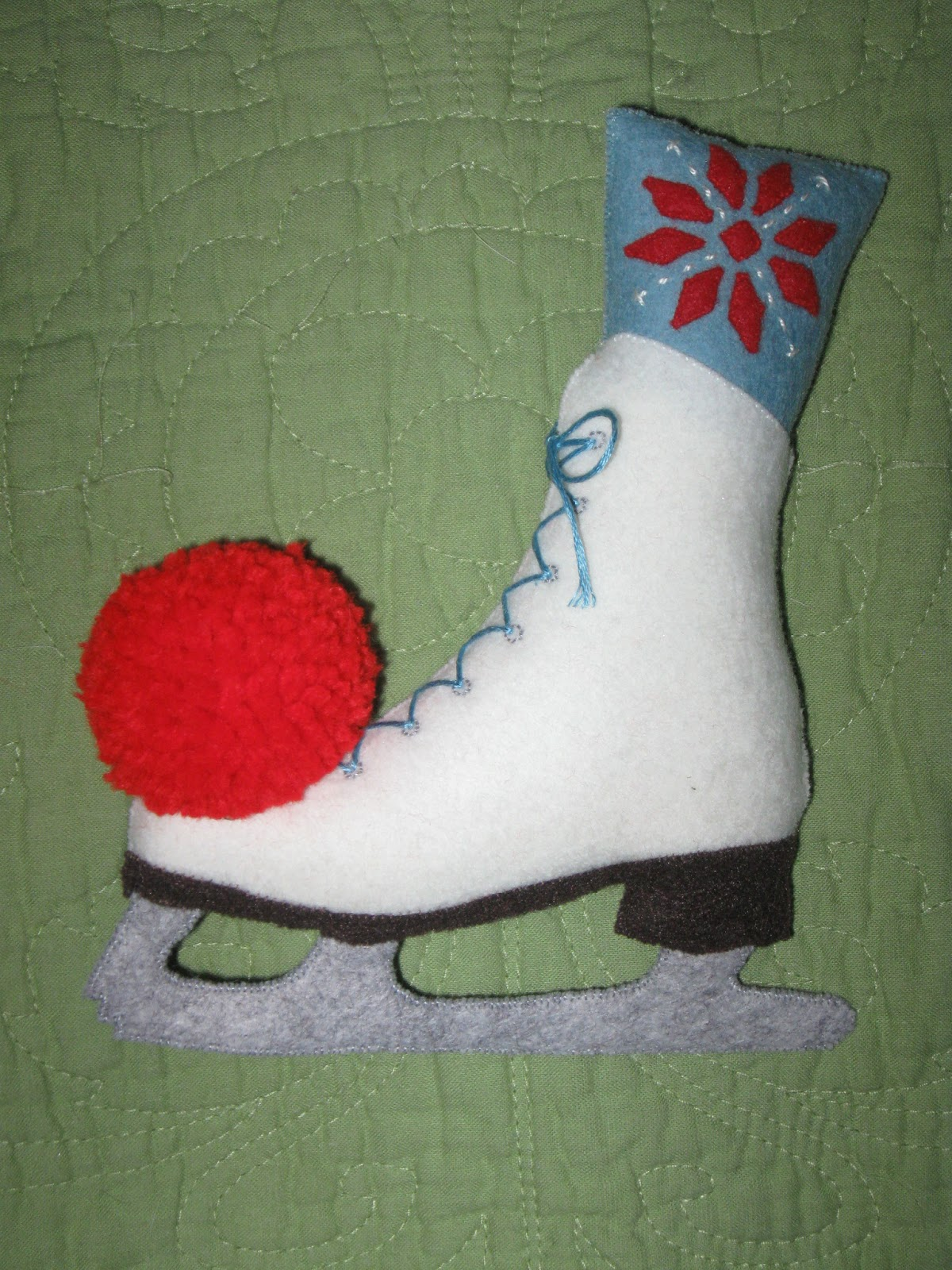 Ice Skate Cake Template