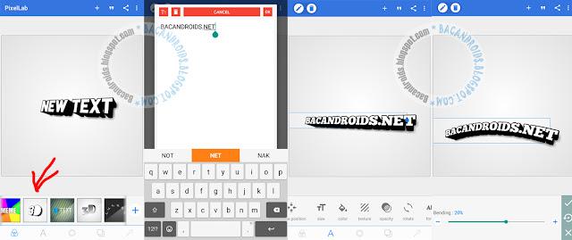 buat Font 3D Full Color Dengan PicsArt dan pixellab