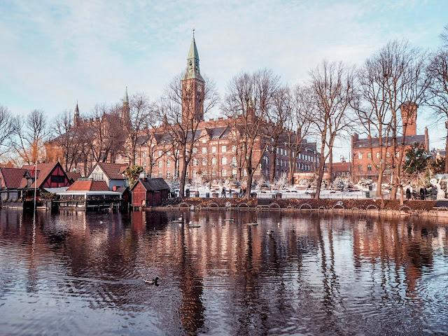 Tivoli, Copenhagen in February - lake