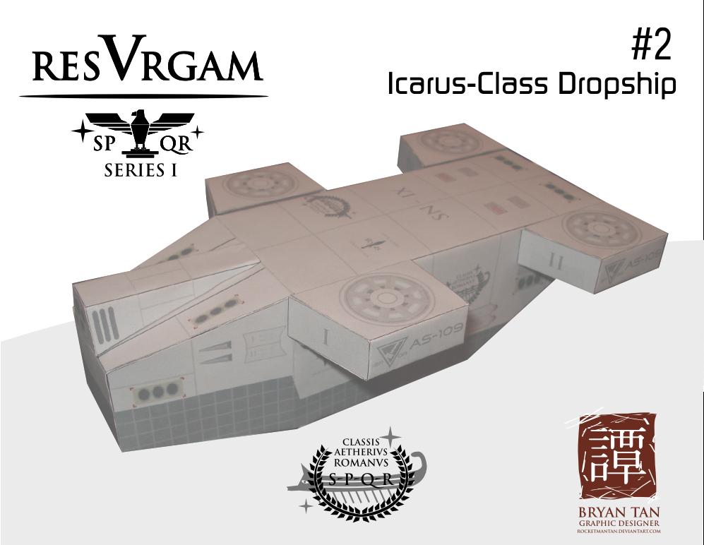 Resurgam - Icarus Dropship Papercraft | Papercraft Paradise