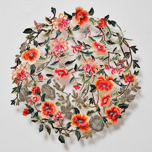 artystyczne obrazy tekstylne