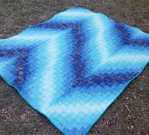 Blue Bargello Quilt Free Pattern