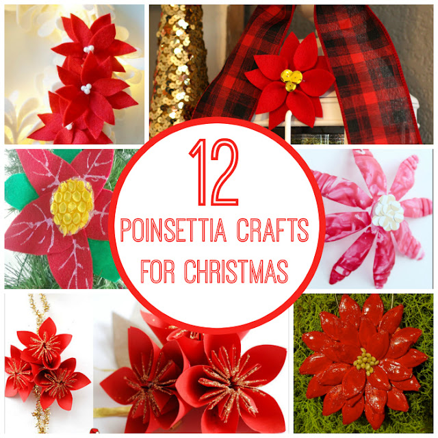Poinsettia crafts for kids and adults to make for Christmas