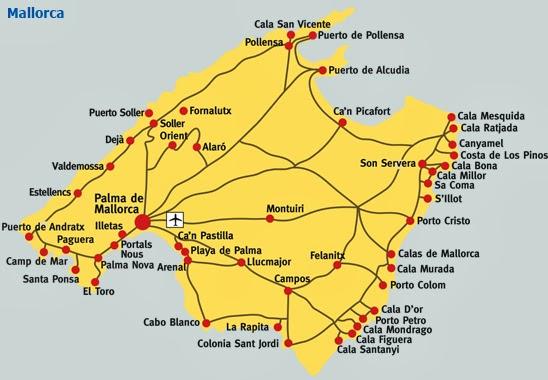 mallorca strände karte Die besten Strände: Karte von Mallorca (Spanien) mallorca strände karte