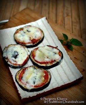 quick aubergine pizza : a grain free pizza that we love