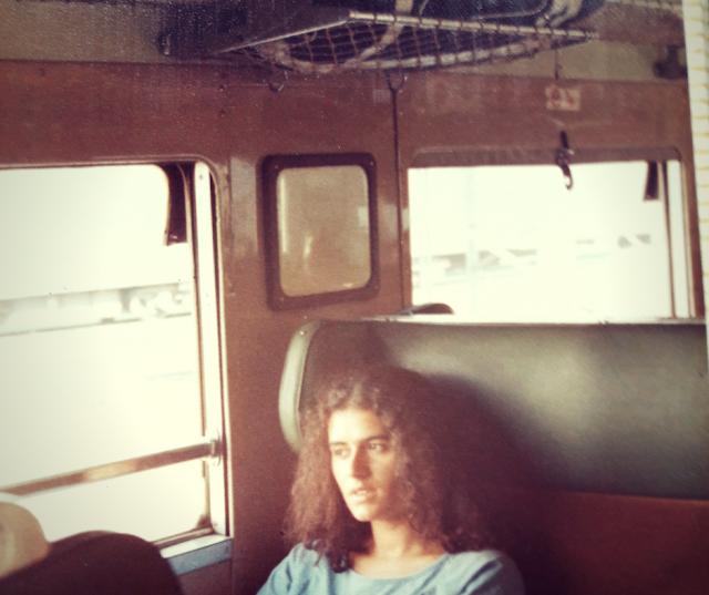 Donna in treno