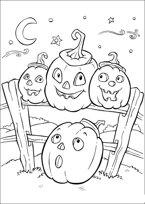 Desene De Halloween De Colorat Fise Halloween