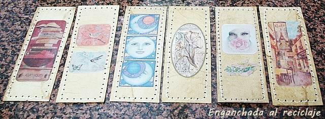 Marcapáginas de falso cuero y decoupage - foto 1