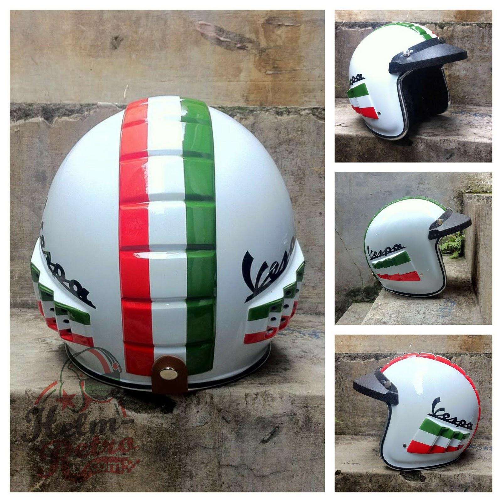 Helm Retro Helm Retro Pilot Helm Retro Bogo Helm Robot Vespa