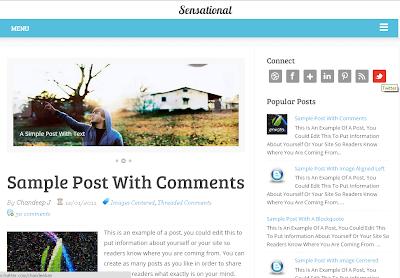sesational responsive blogger template