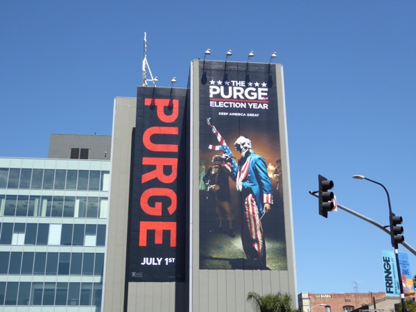 Purge Election Year movie billboard