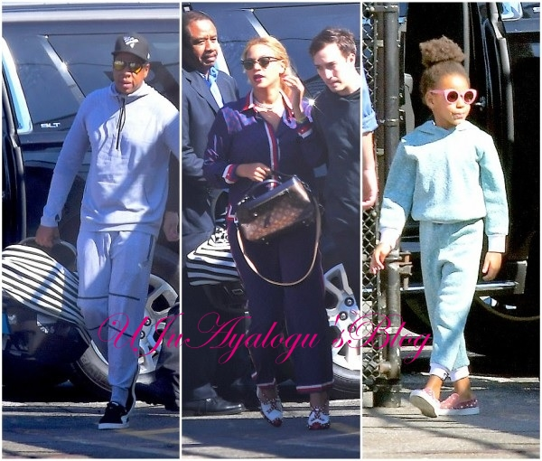 Beyonce and Jay Z step out with Blue Ivy, Rumi and Sir for the first time (Photos)