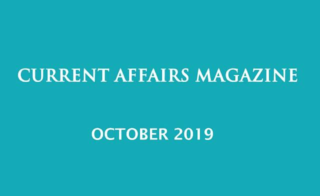 Current Affairs October 2019 iasparliament