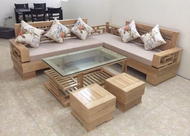 Thiết kế phòng khách chung cư đẹp với nội thất đồ gỗ