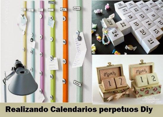 Como hacer un calendario perpetuo enrhedando for Calendario manualidades