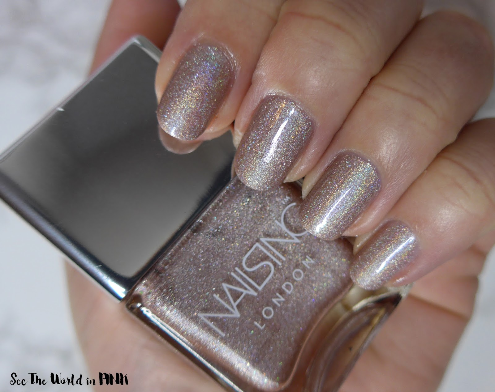 Manicure Tuesday - Nails Inc. Champagne Shine Nail Polish Duo \
