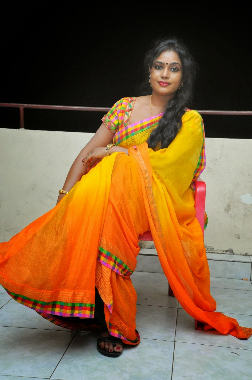 South Jayavani Aunty Latest Hot Saree Photos 2018-8914