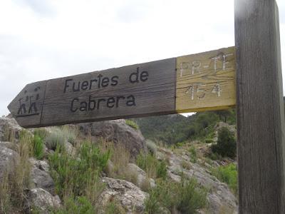 Beseit, Fortins de Cabrera, fortines de Ramón Cabrera , Beceite, señal, cartel, fuertes de Cabrera