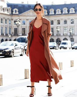 how to wear slip dress for fall