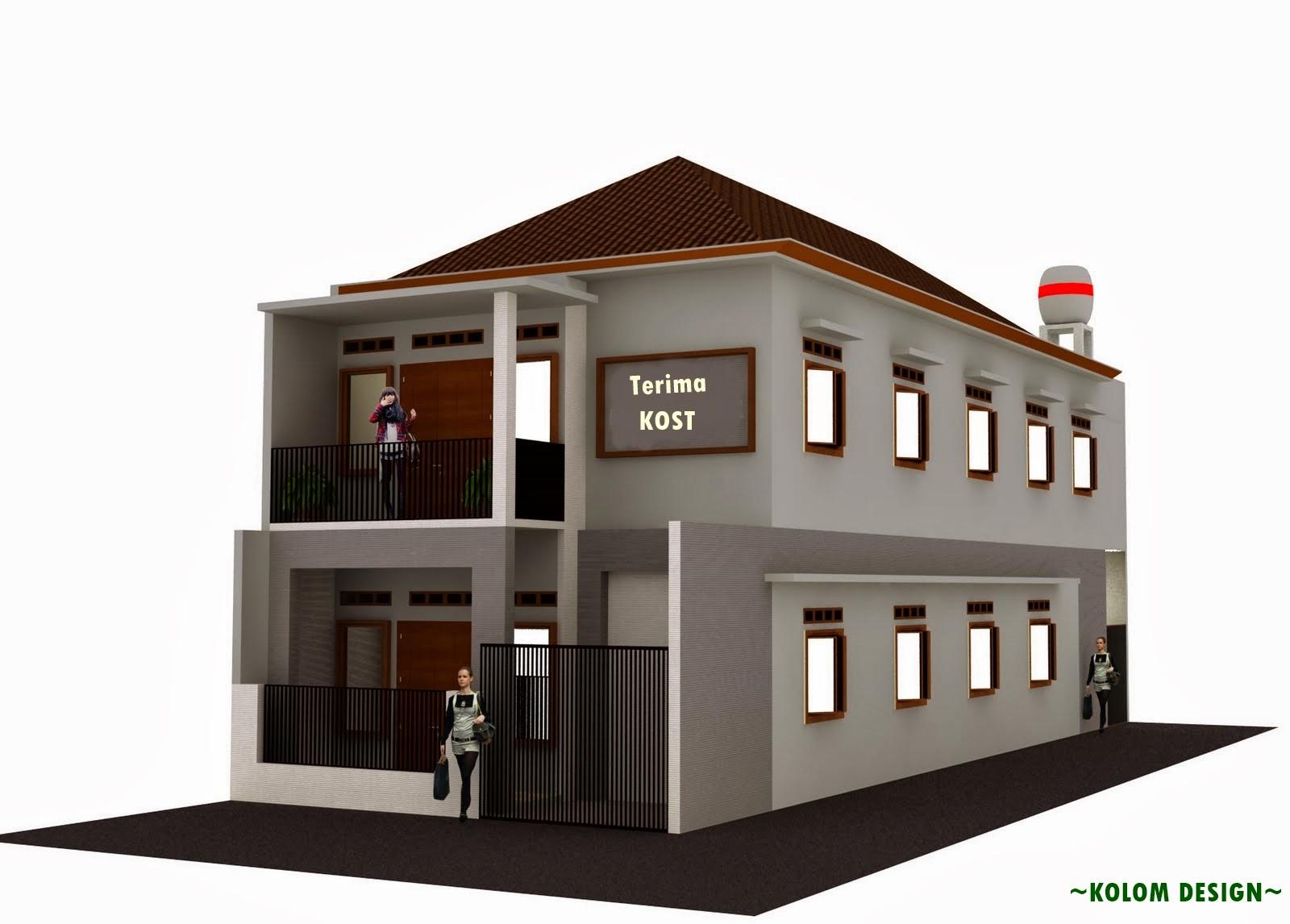 Desain Rumah Kost - Kolom Desain - Gambar Desain Rumah Minimalis