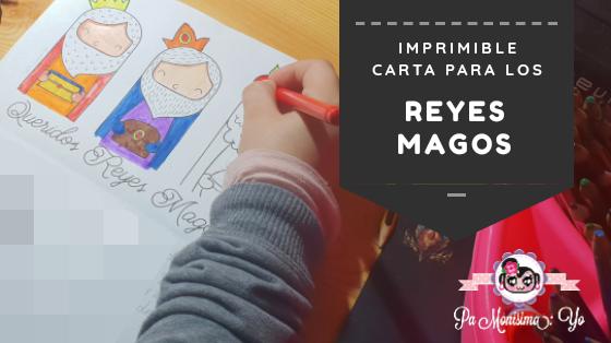 Carta imprimible coloreable Reyes Magos monerias en fieltro pamonisimayo