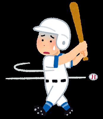 スポーツのスランプのイラスト(野球)